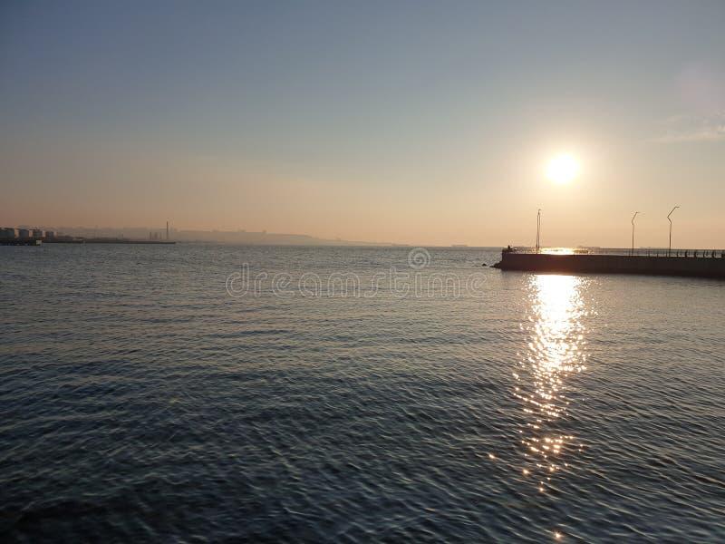 Baie de boulevard de Bakou image stock