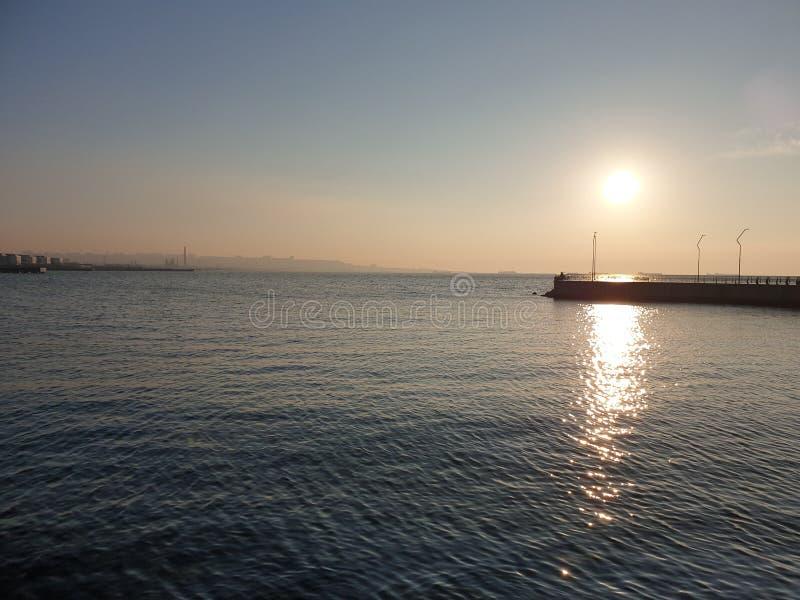 Baie de boulevard de Bakou images libres de droits