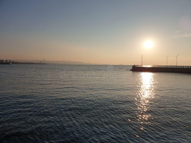 Baie de boulevard de Bakou photographie stock