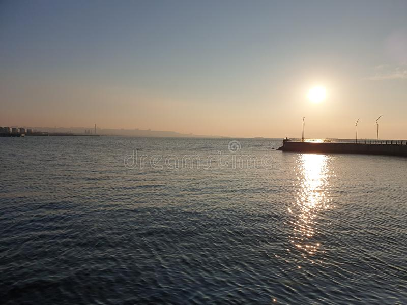 Baie de boulevard de Bakou photo stock