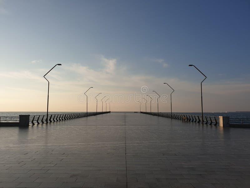 Baie de boulevard de Bakou photos libres de droits