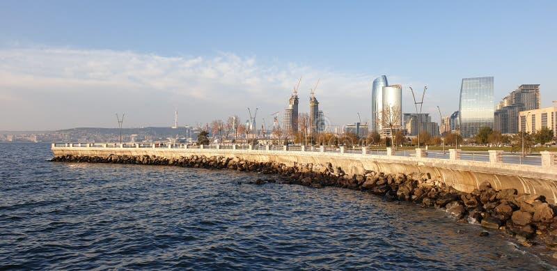 Baie de boulevard de Bakou images stock