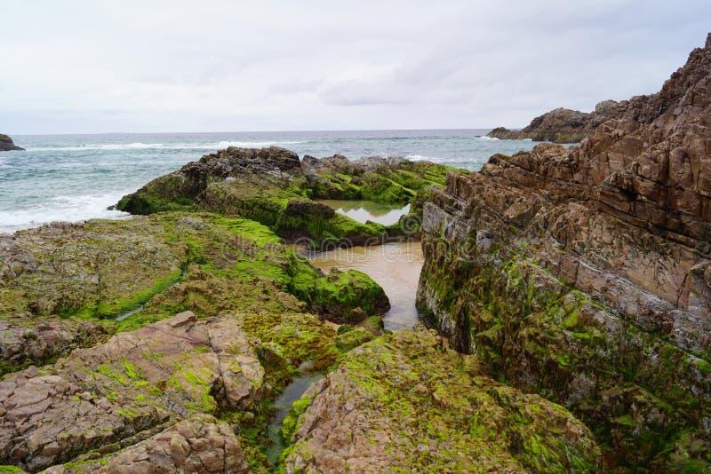 Baie de Boyeghether de plage de trou de meurtre image stock