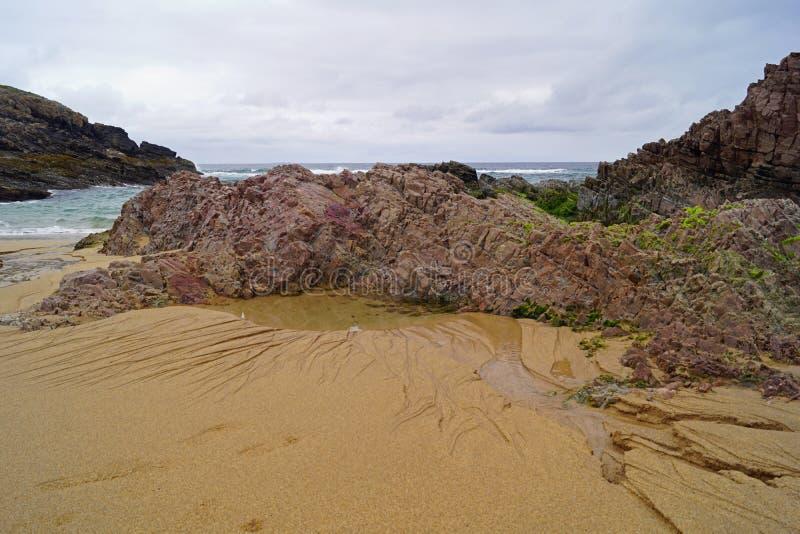 Baie de Boyeghether de plage de trou de meurtre photo libre de droits