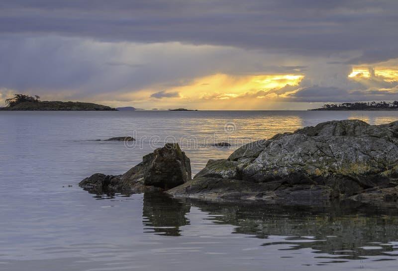 Baie de Cadboro dans Victoria image stock