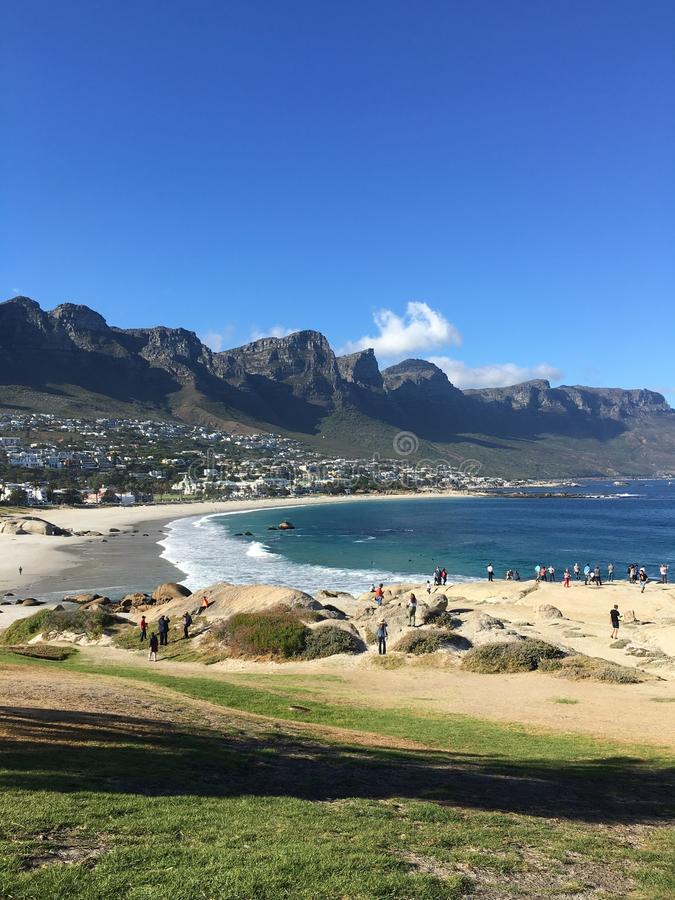 Baie de camps, Cape Town photo stock