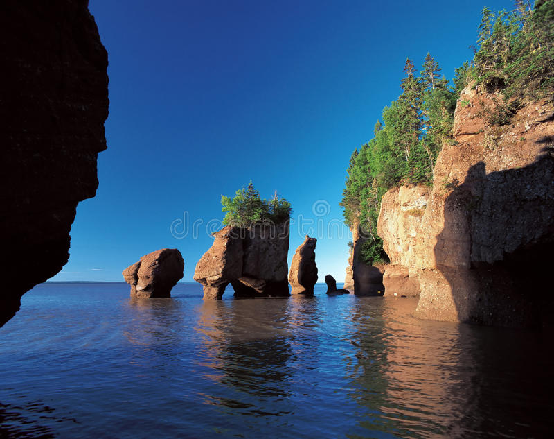 Baie de Fundy photographie stock libre de droits