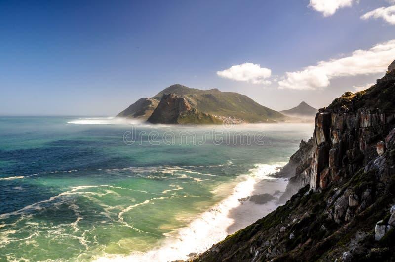 Baie de Hout vue de Chapman& x27 ; commande de crête de s - Cape Town, Afrique du Sud photographie stock libre de droits