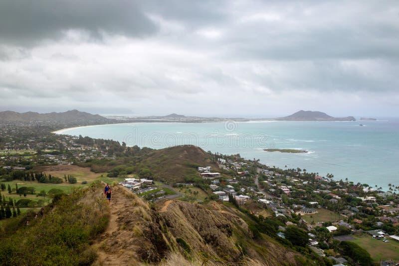 Baie de Kailua, Oahu image libre de droits
