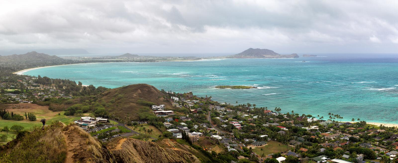 Baie de Kailua, Oahu photographie stock