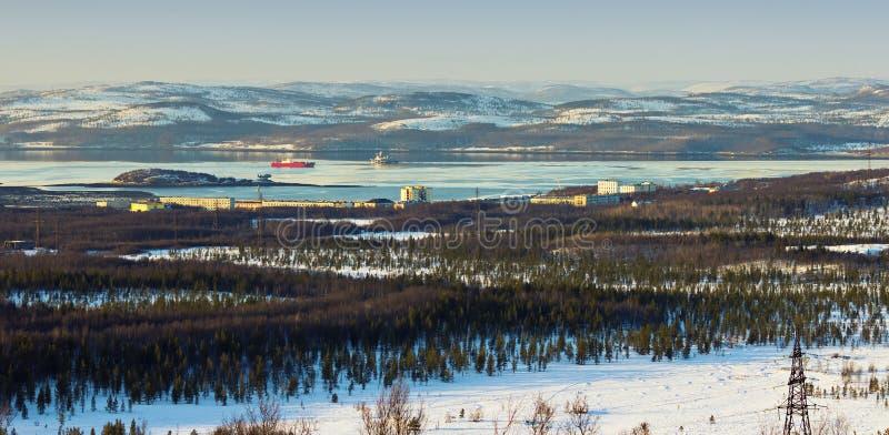 Baie de la mer de Barents photo stock