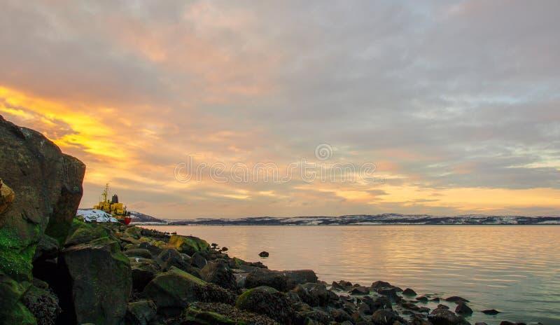 Baie de la Mer du Nord image libre de droits