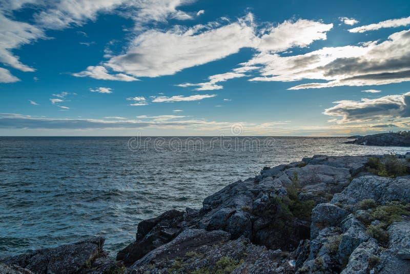 Baie de lac supérieur images stock