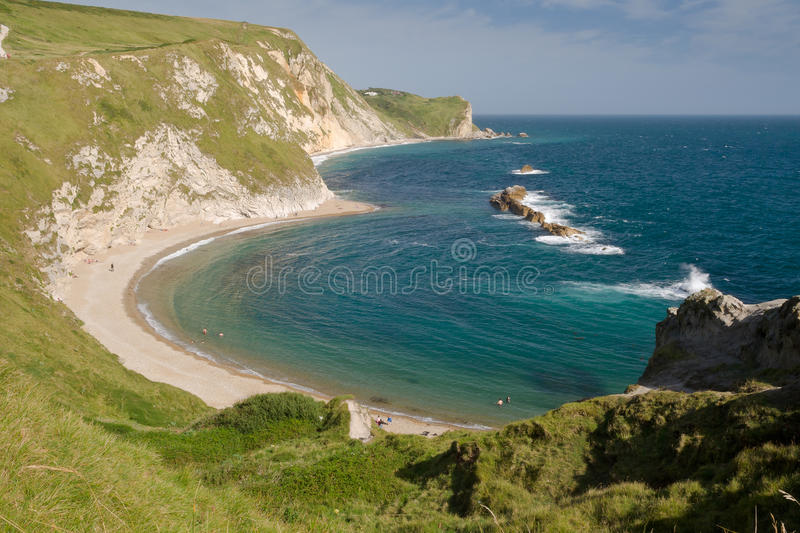 Baie de Lulworth à la côte jurassique, Dorset, R-U photos stock
