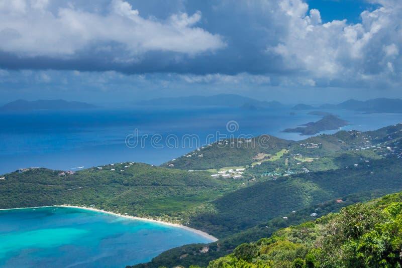 Baie de Magens, point de repère d'île de St Thomas photos libres de droits