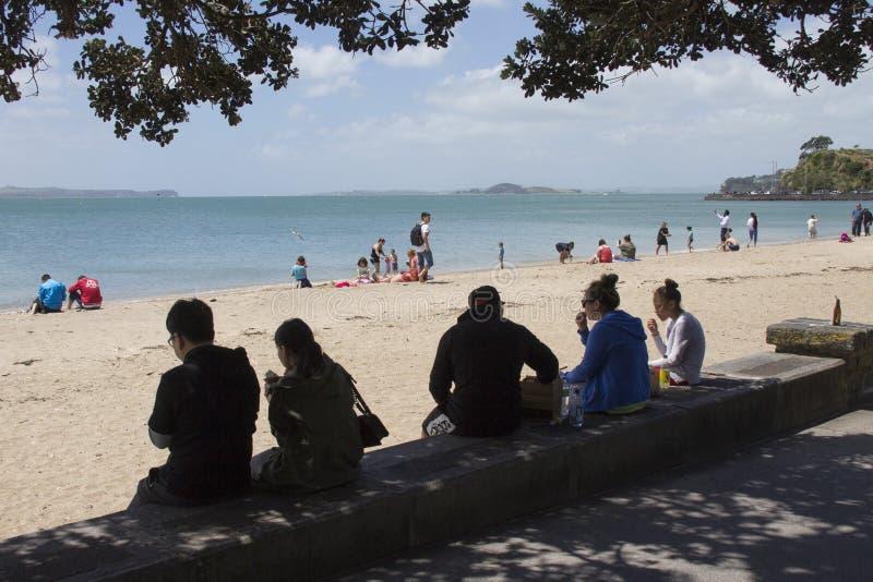 Baie de mission d'Auckland, Nouvelle-Zélande images libres de droits