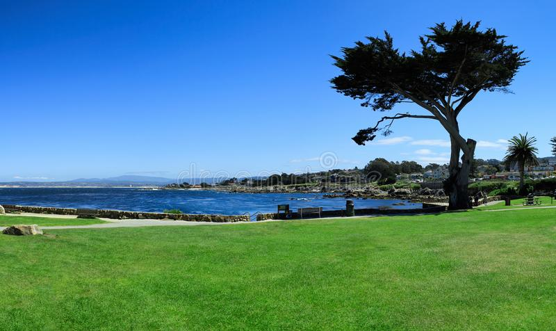 Baie de Monterey, panorama, la Californie, Etats-Unis photographie stock