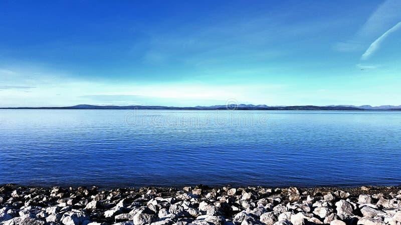 Baie de Morecambe en Angleterre images stock