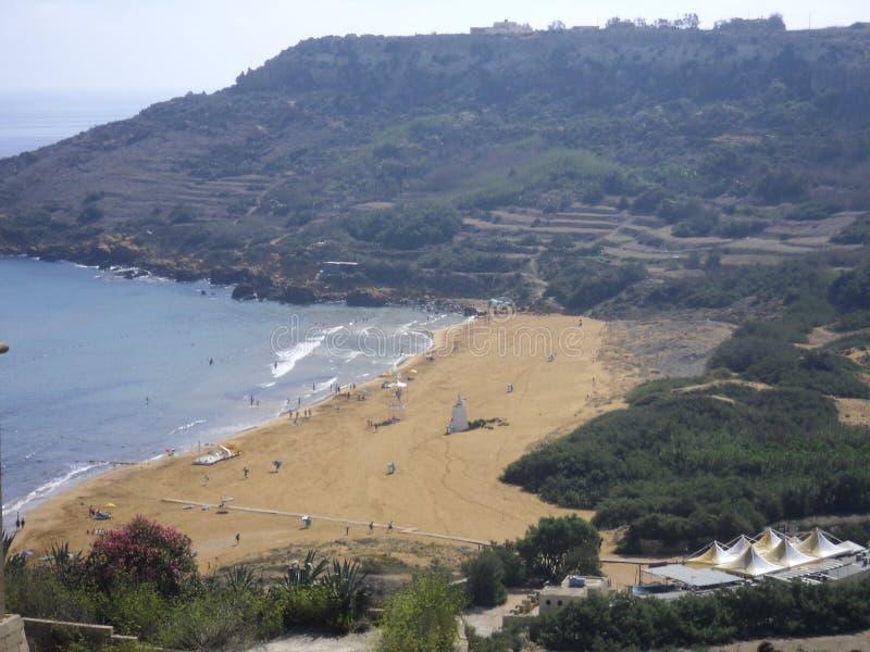 Baie de Ramla dans Gozo (Malte) photo stock