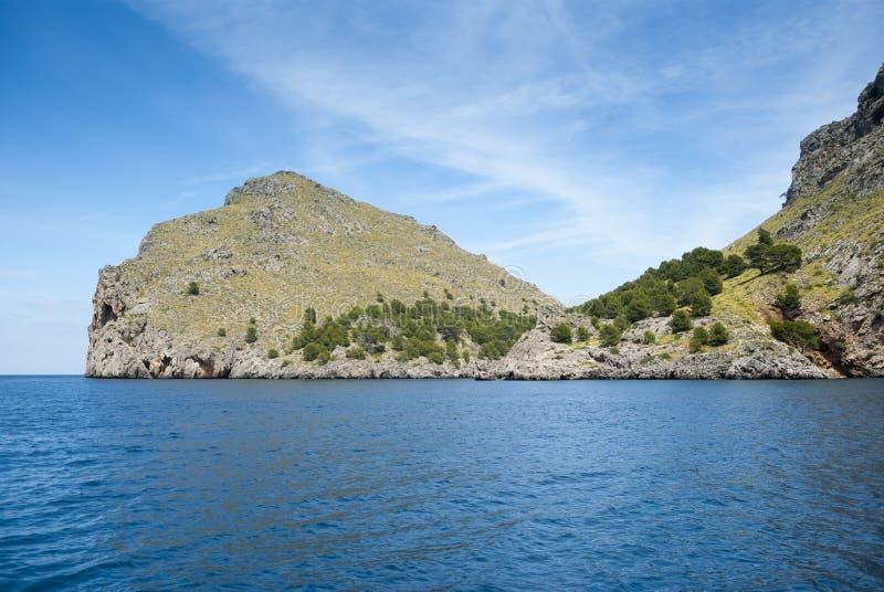Baie de SA Calobra image libre de droits