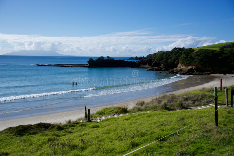 Baie de Shakespeare, Nouvelle-Zélande image stock