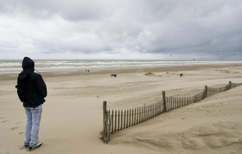 Download Baie De Somme With Young Man - France Stock Photos - Image: 22156923
