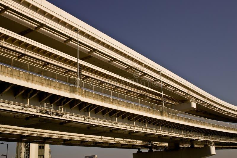 Baie de Tokyo, pont en arc-en-ciel. images libres de droits