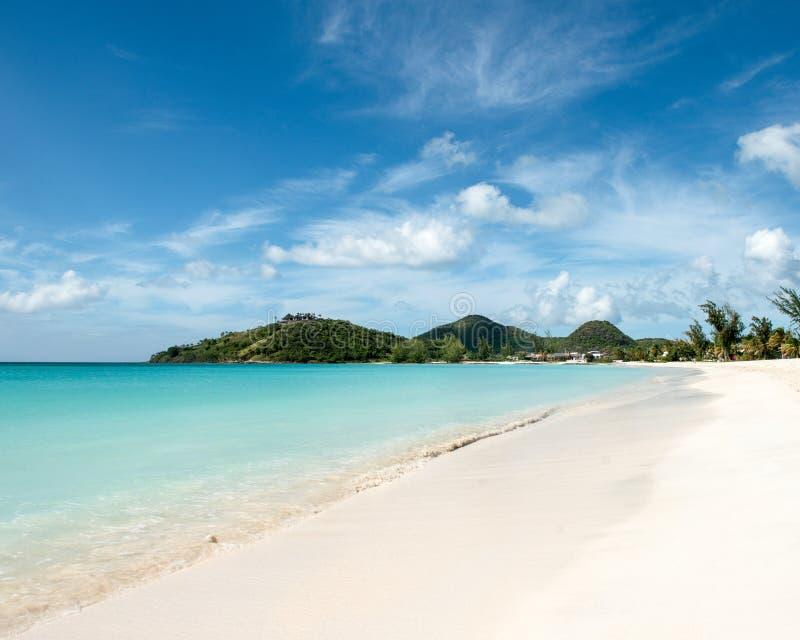 Baie de tranquilité à l'Antigua image libre de droits