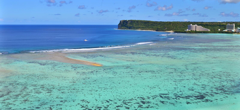 Baie de Tumon, Guam image stock