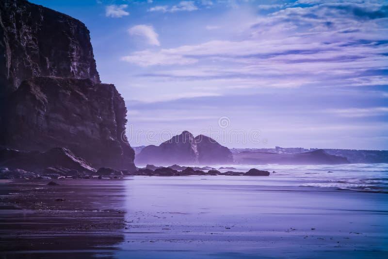 Baie de Watergate, Newquay, les Cornouailles image libre de droits