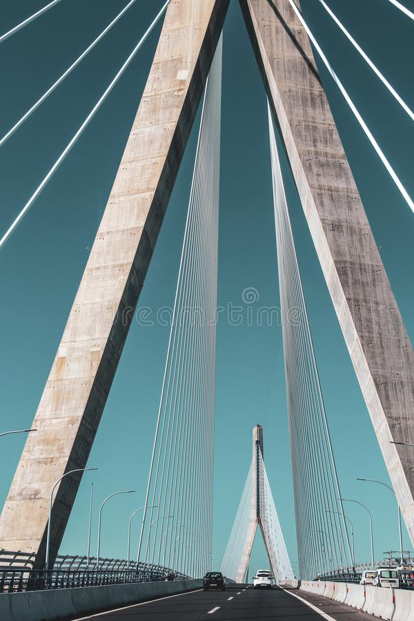 Baie des colonnes de pont de Cadix, Cadix images libres de droits