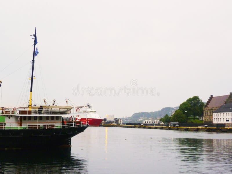 Baie en Norvège photo stock