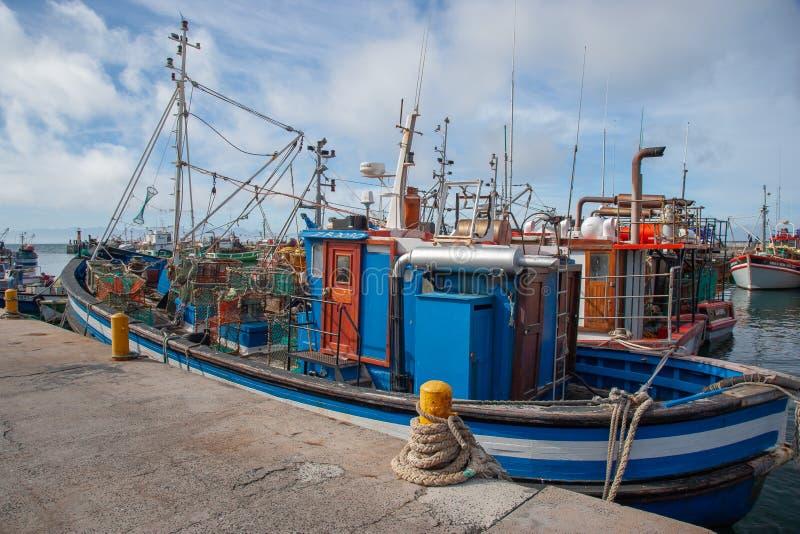 Baie Habour, le Cap-Occidental, Afrique du Sud de Kalk image libre de droits