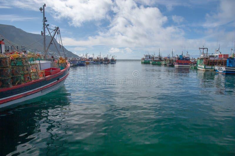 Baie Habour, le Cap-Occidental, Afrique du Sud de Kalk photographie stock