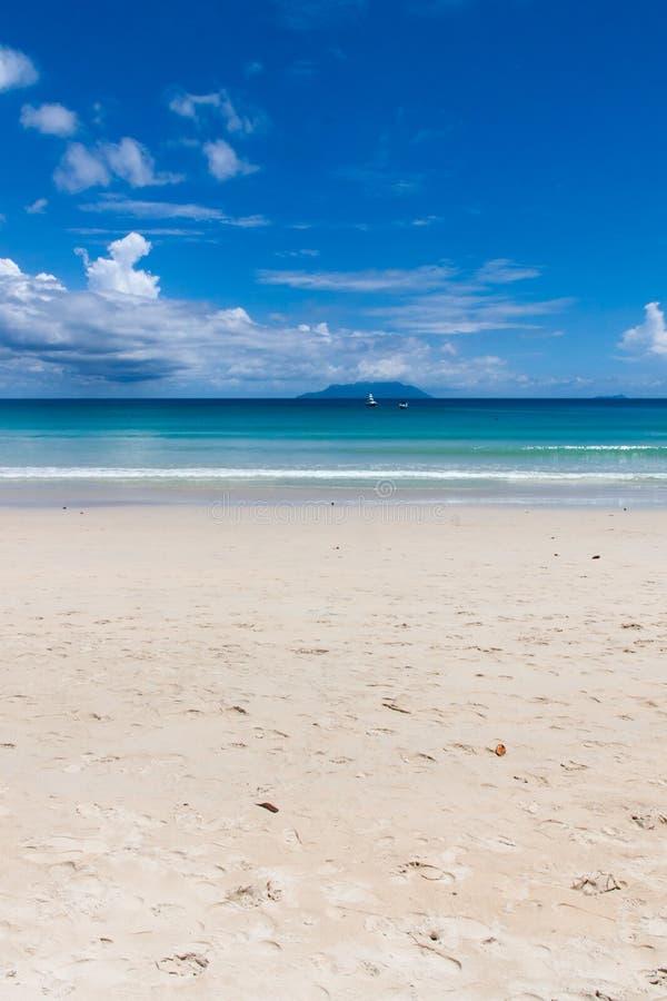 Baie kawalera Vallon plaża w Seychelles zdjęcie royalty free