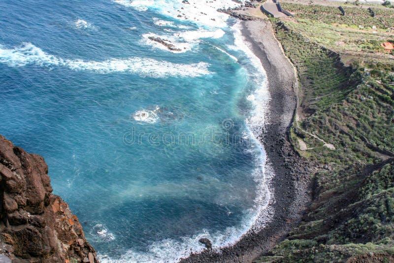 Baie sur la côte de Ténérife photographie stock libre de droits
