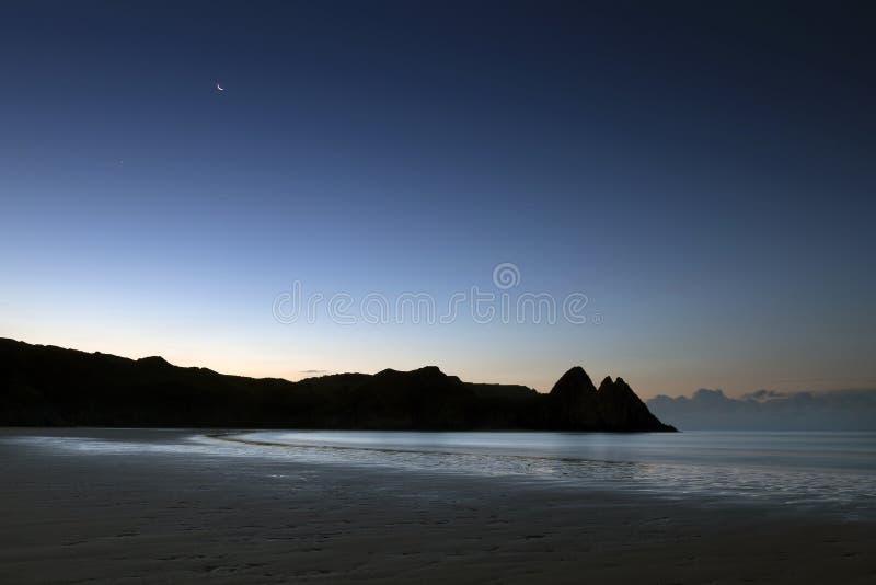 Baie Swansea de trois falaises images stock