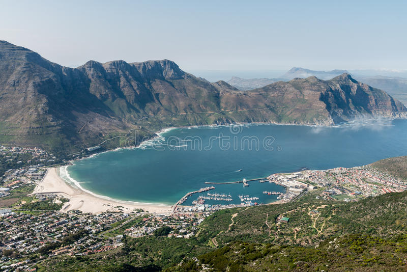 Baie vue aérienne de Cape Town, Afrique du Sud de Hout photo libre de droits