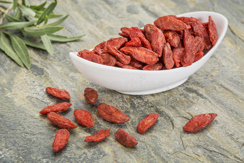 Baies de Goji photographie stock libre de droits