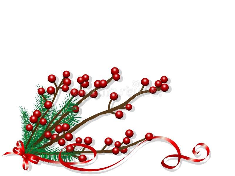 Baies de Noël illustration de vecteur