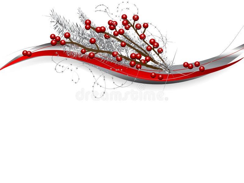 Baies de Noël illustration libre de droits