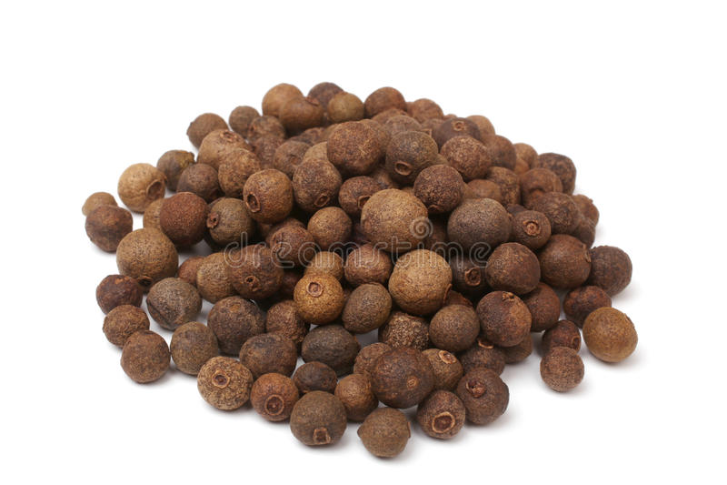 Baies de poivre de Jamaïque photo stock