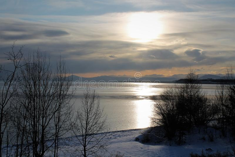 Baikal λίμνη σε όλη τη δόξα του το χειμώνα στοκ εικόνα