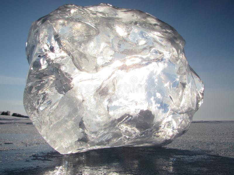 Baikal λιμνών πάγος στοκ εικόνες