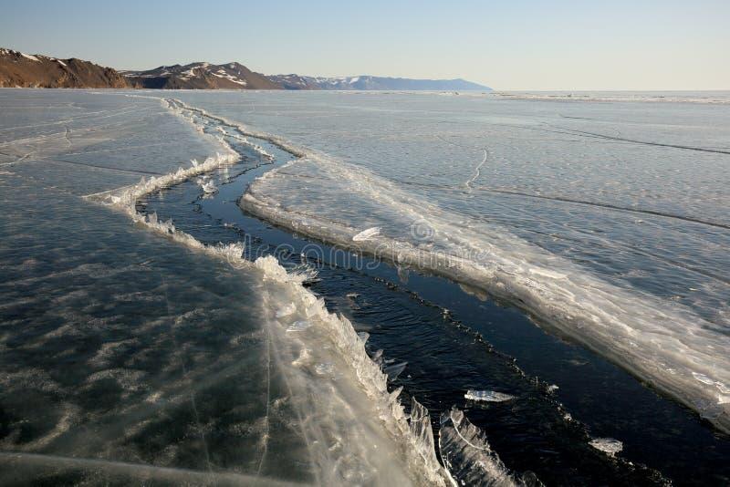 baikal χειμώνας τήξης λιμνών πάγου στοκ φωτογραφίες με δικαίωμα ελεύθερης χρήσης