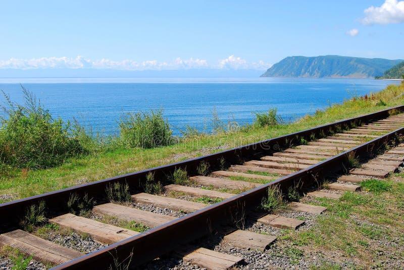 baikal circum linia kolejowa obrazy royalty free