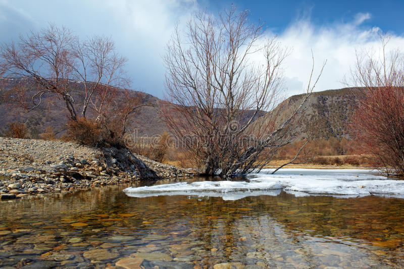 Baikal in de winter royalty-vrije stock afbeelding