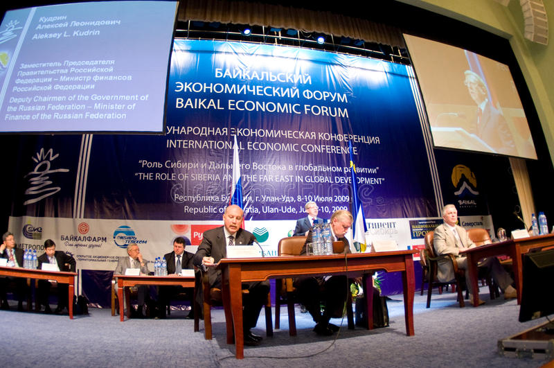 Baikal Economical Forum Editorial Stock Image