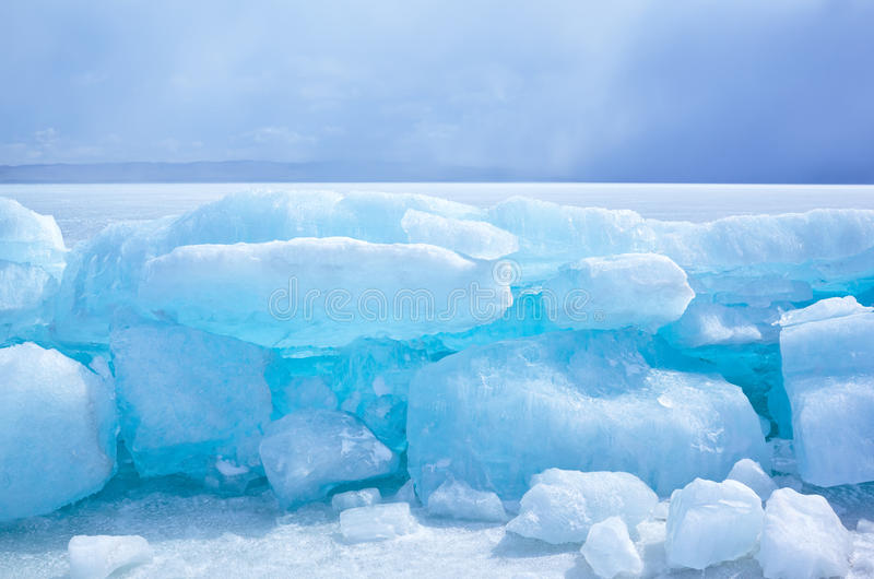Baikal i vinter fotografering för bildbyråer