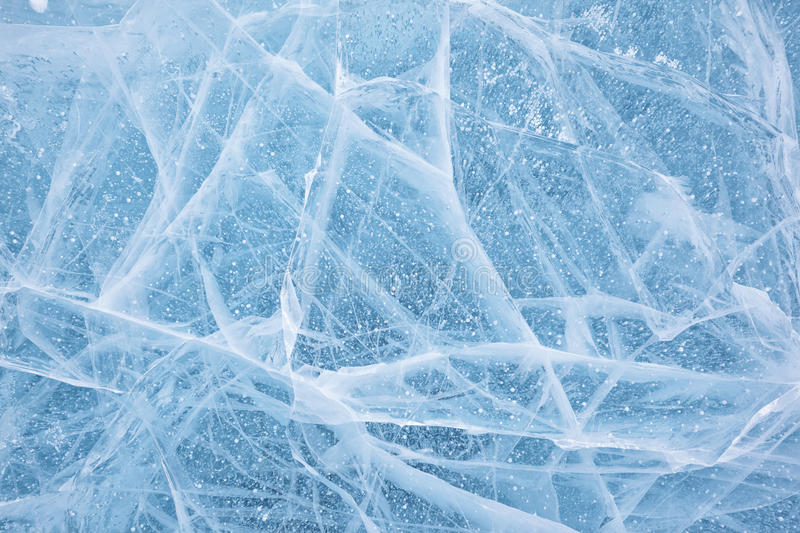 Baikal ice texture. Texture of ice of Baikal lake in Siberia stock images